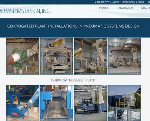 Air Systems Design Web Design | Louisiana | MDG