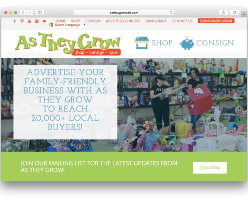 AsTheyGrowSale Consignment Website | MDG