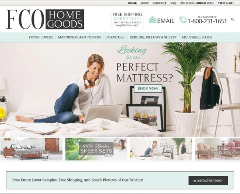 FCO Home Goods E-commerce Web design | Louisiana | MDG
