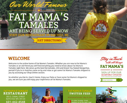 Fat Mama's Tamales Restaurant Website Design | Mississippi | MDG