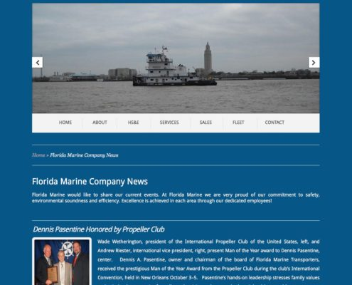 Florida Marine Transporters Website Design | Louisiana |MDG
