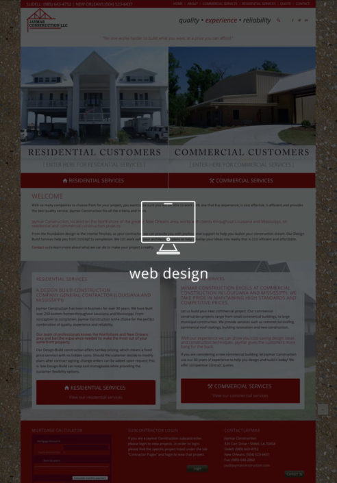 Jaymar Construction New Orleans Web Design | Louisiana | MDG