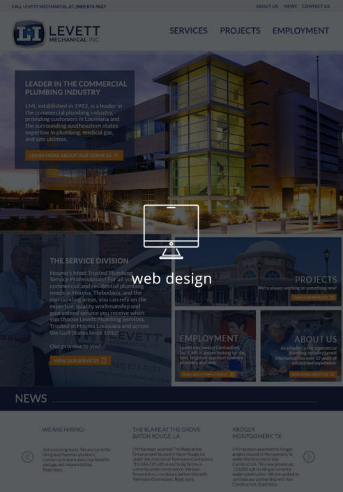 Levett Mechanical Website Design | Magnolia Development Group