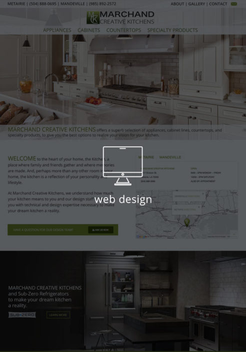 Marchand Creative Kitchens Web Design | Louisiana | MDG