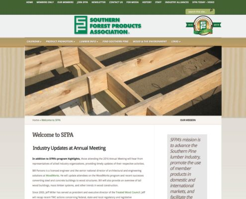 Southern Forest Products Association Website Design | Louisiana | MDG