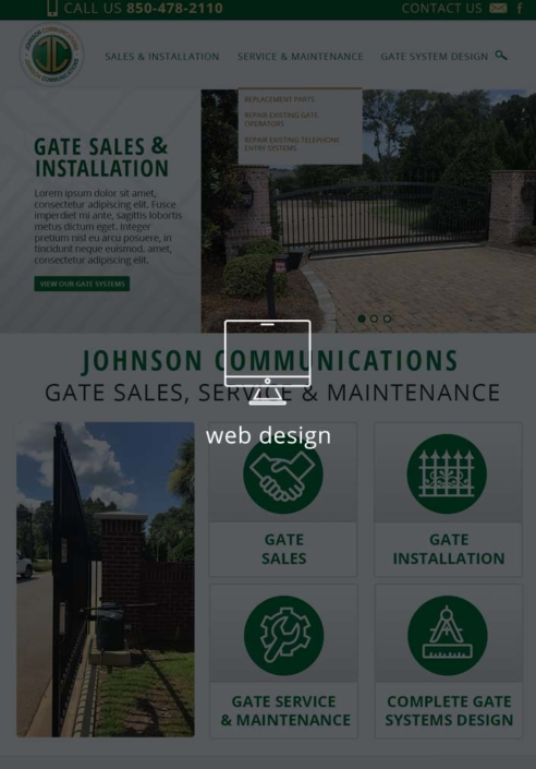 Johnson Communications Gate Sales and Security Website