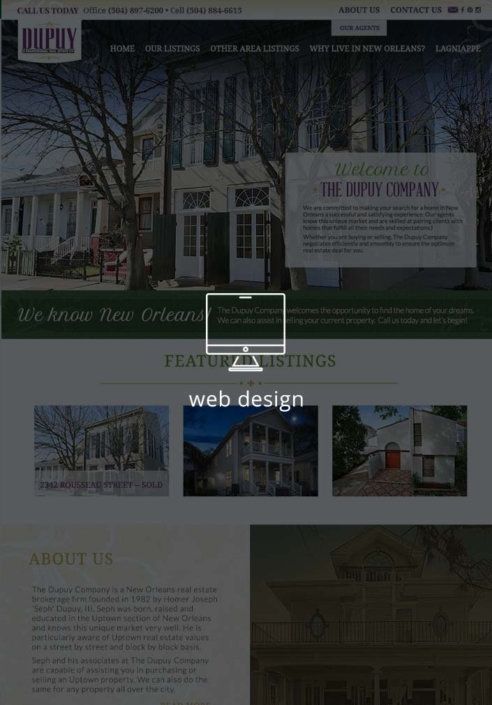 The Dupuy Company Real Estate Website Design | Magnolia Development Group